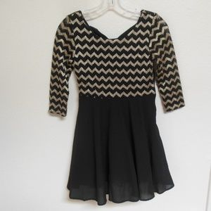 Black and Gold My Michelle Girls Dress size 12